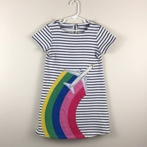 Mini Boden Rainbow Airplane dress